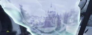 Fortnite: Spieler sehen ein Schloss in den Rissen