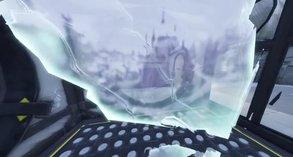 Spieler sehen ein Schloss in den Rissen