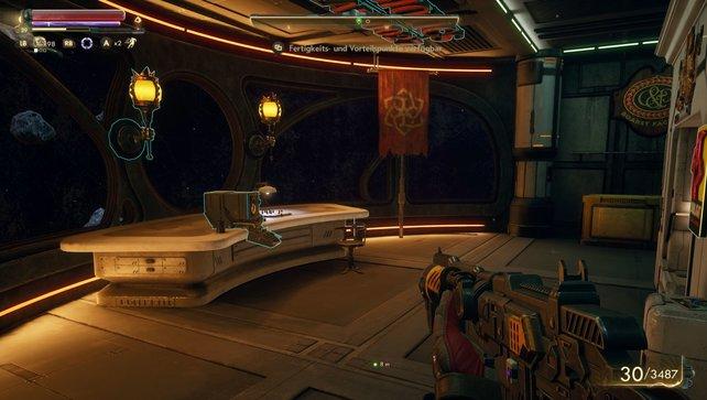 Das Quartier des Captains bietet euch eine unendlich große Lagerkiste.