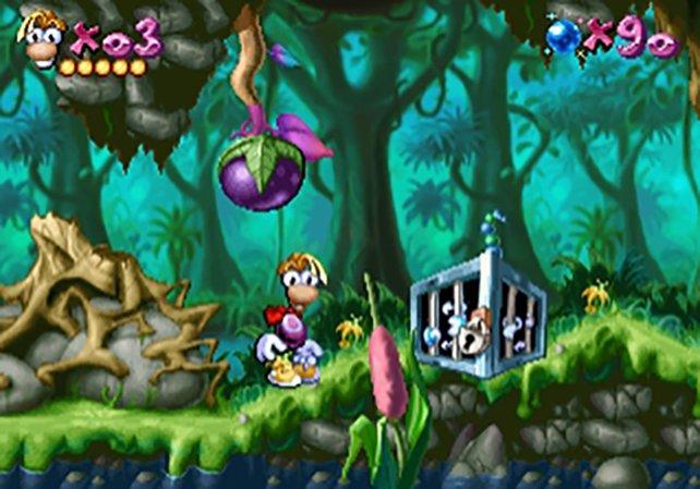 Arme und Beine braucht Rayman nicht, um die Electoons aus den Käfigen zu befreien.
