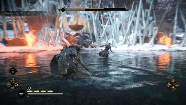 Im Bosskampf gegen Loki solltet ihr vor allem auf Abstand gehen und ihn angreifen lassen, ehe ihr ihn auskontert.