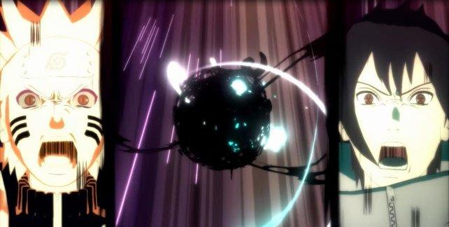 Die zwei Freunde kombinieren ihre Fähigkeiten zu einem Combo Ultimativen Jutsu.