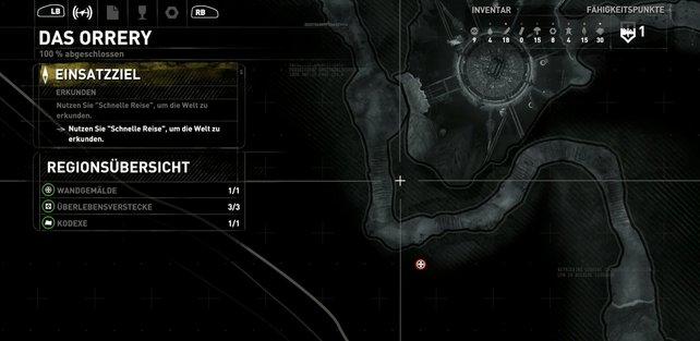 Karte: Das Orrery.