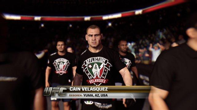 Vor jedem Kampf wird der Einzug in die Arena zelebriert.