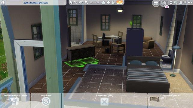 Das Drehen von Objekten in Sims 4 ist ganz einfach.