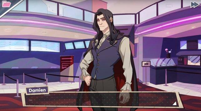 Damien wäre die perfekte Besetzung für eine Vampir-Rolle.