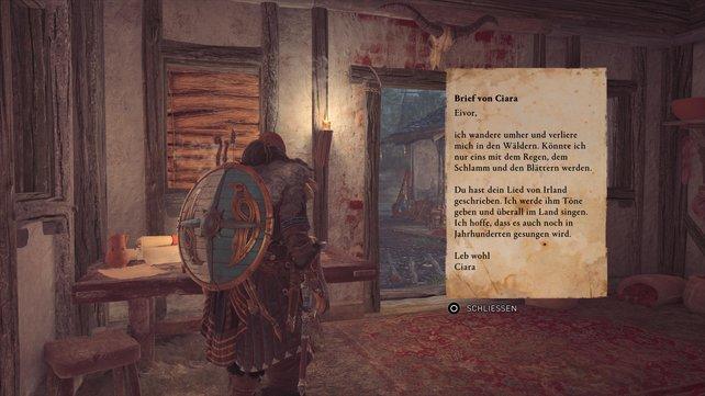 Verschont ihr Ciaras Leben, dann erhaltet ihr bei Deirdre zum Abschluss noch einen Brief von ihr.
