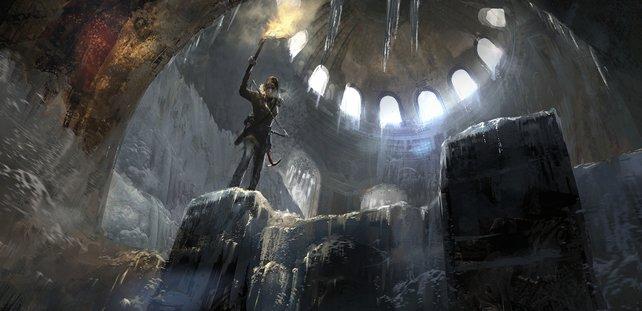 Zurück zu den Wurzeln der Serie: Lara kämpft sich durch finstere Katakomben.