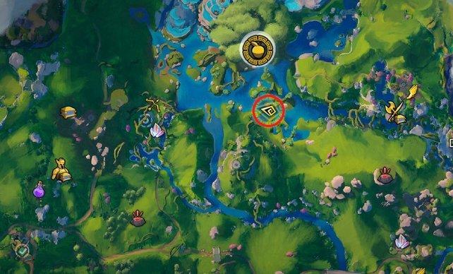 Blau wie die Seele Gaias, befindet sich Indika in einem Fluss.