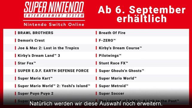 Über ein Dutzend SNES-Spiele werden demnächst für die Nintendo Switch erhältlich sein.