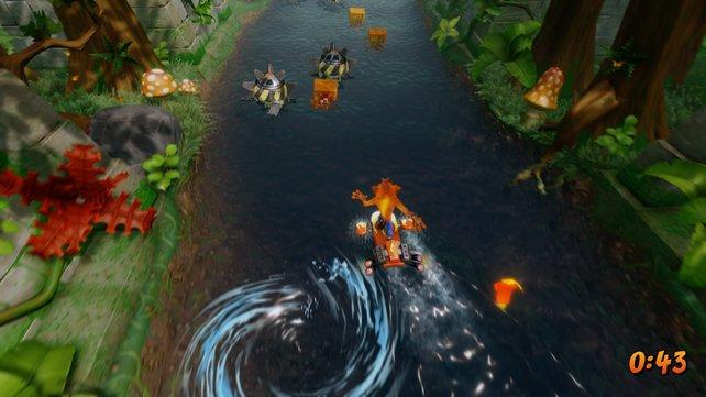 Das Wasser in der Neuauflage sieht toll aus, tötet Crash aber leider bei Kontakt.