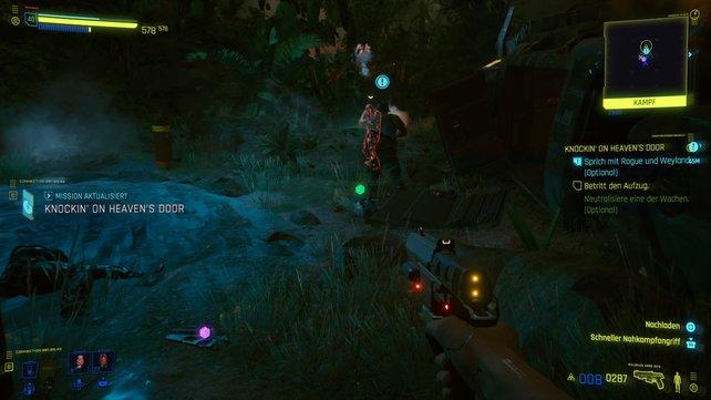 Die Entscheidung, ob ihr Weyland rettet, hat durchaus Auswirkungen auf den Rest der Mission.