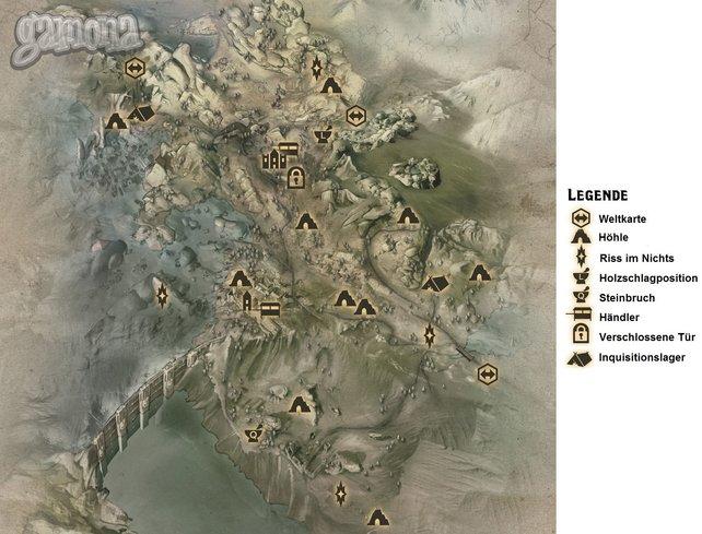 Dragon Age: Inquisition: Kammwald Karte: Dragon Age 3 ...