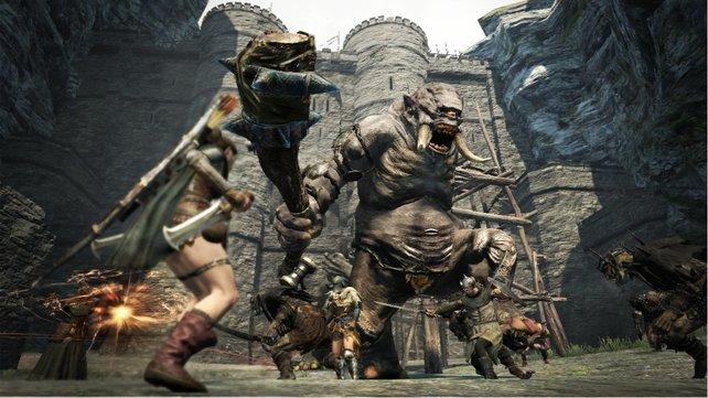 Kämpfe, wie gegen diesen netten Oger, stehen an der Tagesordnung in Dragons Dogma.