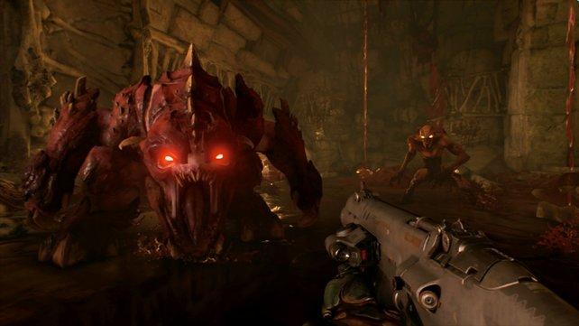 Auch auf Nintendo Switch macht Doom spielerisch ordentlich was her.