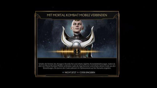 Die Konsolen-Version mit Mortal Kombat Mobile zu verbinden ist schnell erledigt.