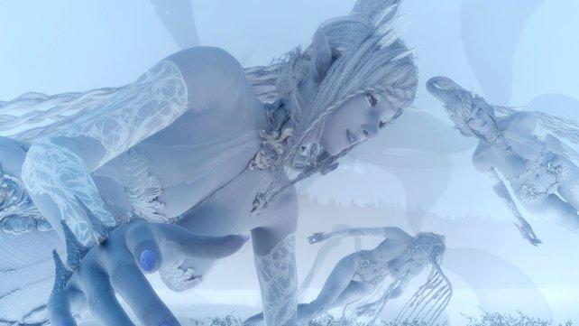 Kein Final ohne Fantasy: Im Angesicht dieser ätherischen Gestalten versinkt ihr schnell in der virtuellen Welt.