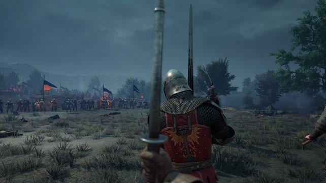 Der Beginn einer Schlacht in Chivalry 2.