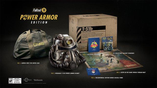 Den T-51-Powerrüstungs-Helm könnt ihr euch wirklich aufziehen. Die Power Armor Edition liefert euch einige tolle Extras, wenn ihr etwas mehr Geld übrig habt.