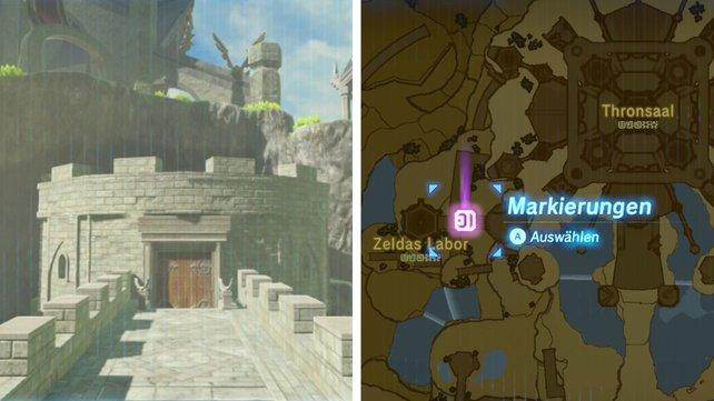 Fundort: Vor Zeldas Gemach in Schloss Hyrule.
