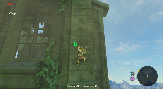 Keine Fassade ist vor Link sicher und Neugier wird belohnt. Auf dem Dach der Zitadelle findet ihr zum Beispiel einen starken Bogen.