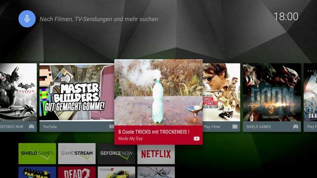 Shield verfügt über viele Videodienste wie Youtube und Netflix - einige große Namen fehlen jedoch noch.