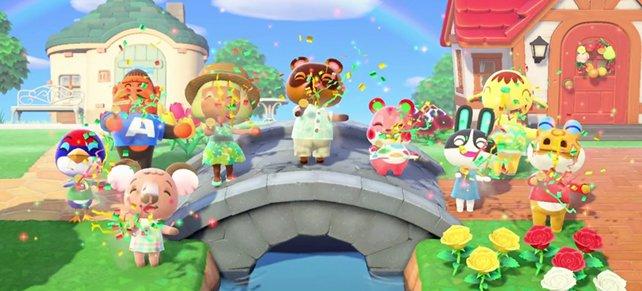 Ein Grund zum Feiern: Nach über elf Jahren könnt ihr Animal Crossing auch wieder auf einem Fernseher spielen.