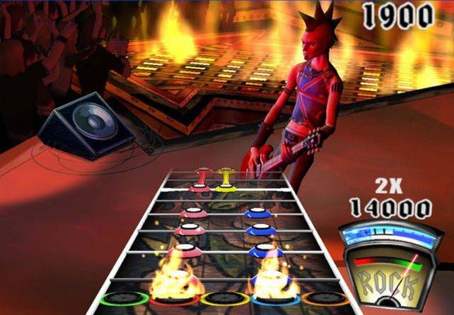 Guitar Hero sorgte für einen Boom der Plastikgitarren, kupferte das Prinzip jedoch ab.