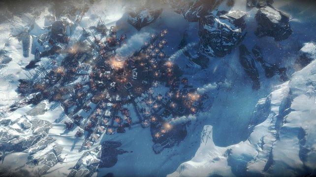 Eure Stadt und Sorgenkind in Frostpunk: Habt ihr genug Kohle, Holz, Nahrung und Nerven, um den ewigen Winter zu überstehen?