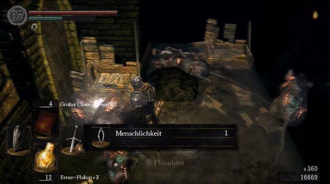 Ratten lassen bei Dark Souls gerne Menschlichkeit fallen.