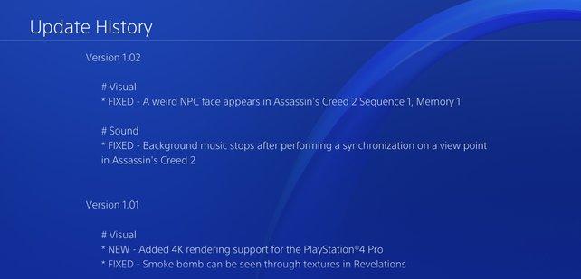 Das aktuelle Update 1.02 entfernt den komisch aussehenden Charakter aus der Neuauflage von Assassin's Creed 2