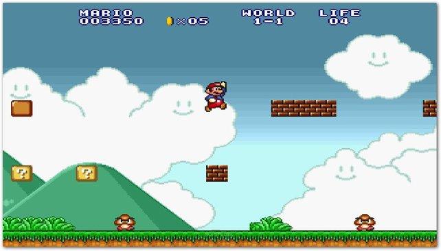 Super Mario Bros. ist so erfolgreich, dass es immer wieder neu aufgelegt wird. Die 16-Bit-Version erscheint 1993 im Rahmen der Spielesammlung Super Mario All-Stars.