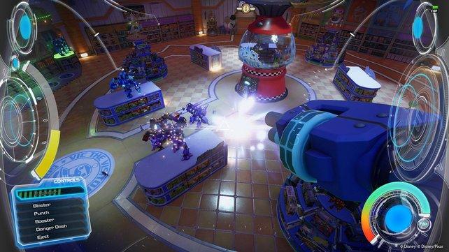 Noch das selbe Spiel? Im Gigas-Roboter wird Kingdom Hearts zum Shooter.