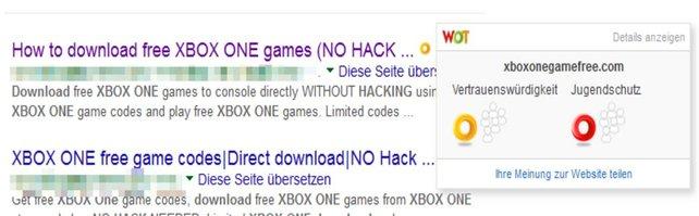 Hier seht ihr ein Beispiel für einen Fake in Sachen Xbox One-Hack.