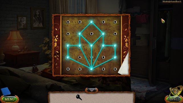 Verschiebt die Verbindungen so, dass sie am Ende dieses Bild ergeben, um das Kistchen zu öffnen.