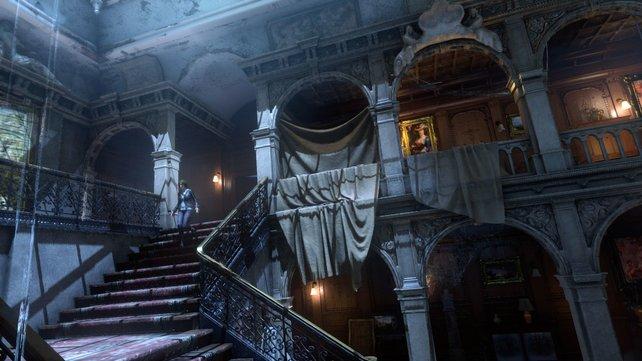 In Blutsbande erkundet ihr eine heruntergekommene Version des Croft-Anwesens.