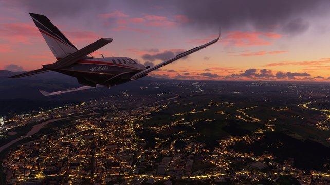 Der Flight Simulator eignet sich gleichermaßen für Spaßausflüge genauso wie für professionellere Sicht- oder Instrumentenflüge.