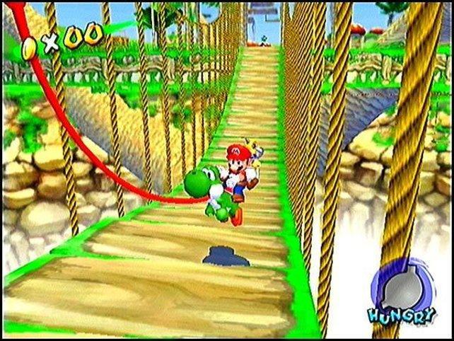 Auch in Super Mario Sunshine hat sich Yoshi am liebsten versteckt.