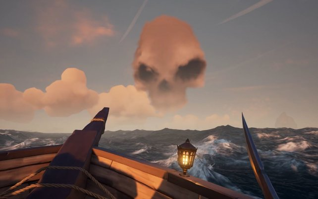 Nicht zu übersehen: Diese Totenkopfwolken zeigen euch eine aktive Skelett-Festung an.