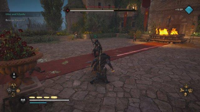 Gauzelin ist schneller als Ebel und Sigfred, weshalb ihr euch auf mehr Angriffe des Gegners einstellen solltet.