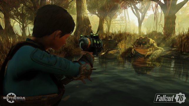 Entfernte Verwandte der Hypno-Toad aus Futurama? Egal! Dank ordentlicher Shooter-Mechanik hat sich das Thema gleich erledigt.