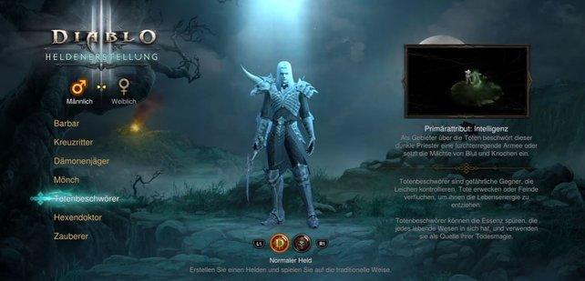 Der Totenbeschwörer ist die siebte spielbare Klasse in Diablo 3 - Reaper of Souls.