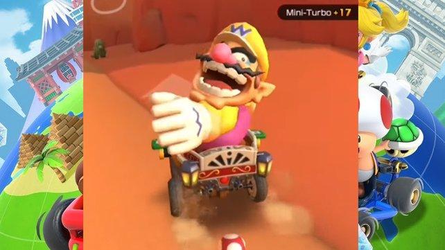 Wario eignet sich sehr gut für diese Mission in Mario Kart Tour.