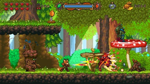 Obwohl nur für den PC geplant, setzt das Spiel auf niedrig aufgelöste Pixel-Optik.