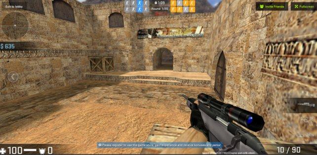 Auch im Web-Browser sieht man Counter-Strike seine 20 Jahre an.