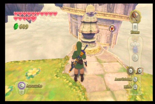 Wenn ihr so weit seid, könnt ihr an dieser Statue im Wolkenhort den Eingang zum letzten Dungeon freilegen.