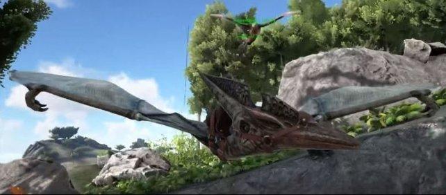 Der Pteranodons ist ein riesiger Flugsaurier, den es wirklich einmal gab.