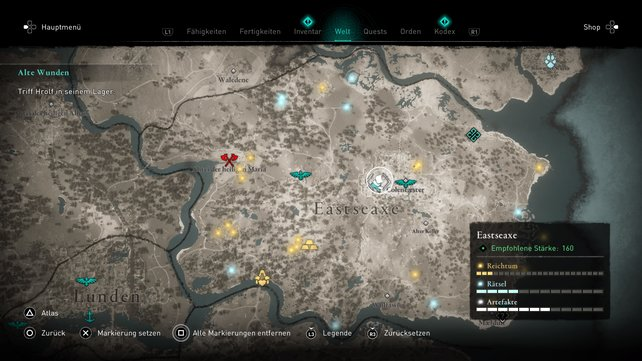 Fliegendes Papier #23 in Eastseaxe auf der Karte.