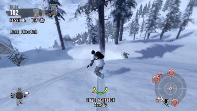 Eines der letzten größeren Snowboard-Spiele zum Ende der Glanzzeit: Shaun White Snowboarding
