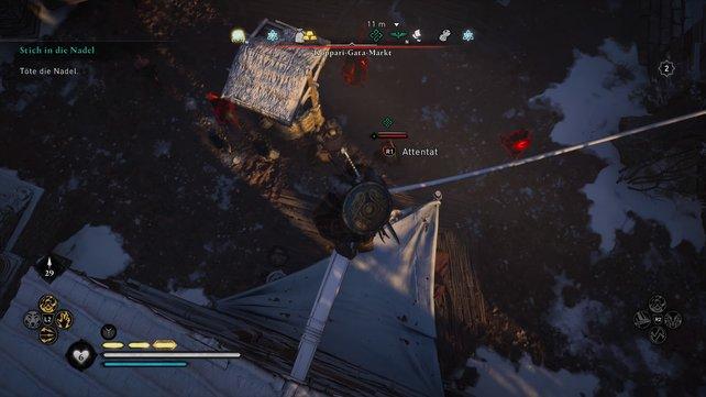 Grigorii tötet ihr am leichtesten, indem ihr auf die Dächer klettert und dann ein Luftattentat ausübt.
